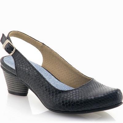 נעלי נשים גויה סנדל בובה עקב שחור
