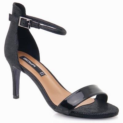נעלי נשים גויה סנדל עקב שחור