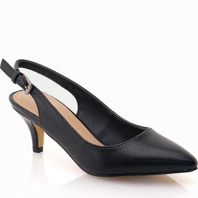 נעלי נשים גויה סנדל עקב אלגנטי שחור