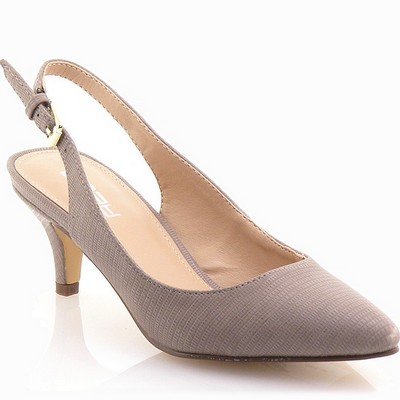 נעלי נשים גויה סנדל עקב אלגנטי בז