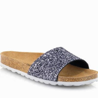 נעלי נשים גויה כפכף אורטופדי נצנצים אפור