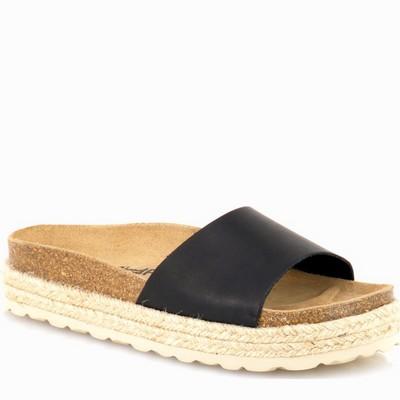 נעלי נשים גויה כפכף אורטופדי פלטפורמה נמוך שחור