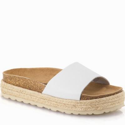נעלי נשים גויה כפכף אורטופדי פלטפורמה נמוך אפור