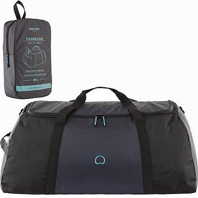 תיק נסיעות ענק 108 ליטר דלסי פולדבאג שחור