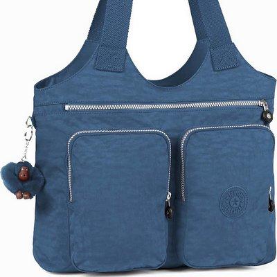תיקים לנשים תיק A4 צד גדול ומוצלח קיפלינג ארמיד כחול ג'ינס