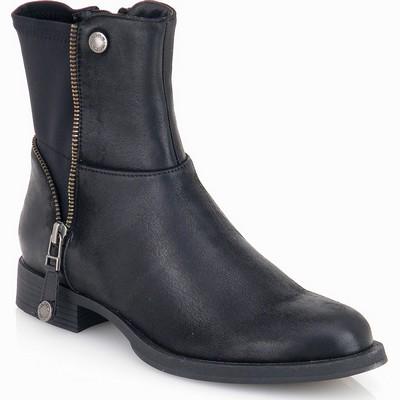 מגפיים לנשים מגפון רוכסן גויה שחור