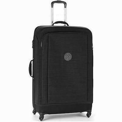 מזוודה חזקה מעוצבת קיפלינג סופר הייבריד בינונית שחור פסים