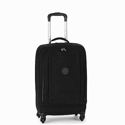 מזוודה חזקה עליה למטוס מעוצבת קיפלינג סופר הייבריד שחור פסים