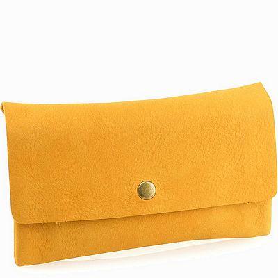 ארנקים לנשים אפיקה ארנק כפתור חרדל צהוב