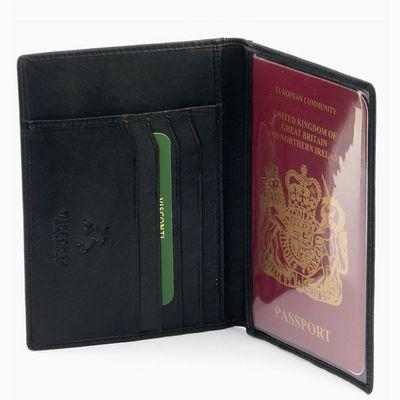 נרתיק כיסוי עור לפספורט דרכון שחור