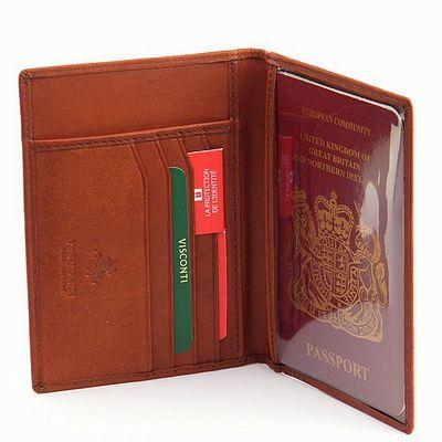 נרתיק כיסוי עור לפספורט דרכון חום