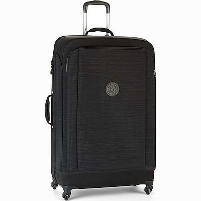 מזוודה חזקה מעוצבת קיפלינג סופר הייבריד גדולה שחור סגול פסים
