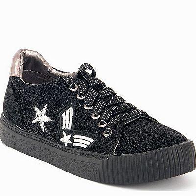 נעלי נשים גויה ספורט פאצ'ים נמוך שחור