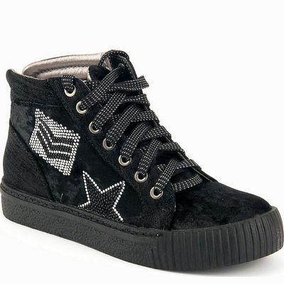 נעלי נשים גויה ספורט פאצ'ים גבוה שחור