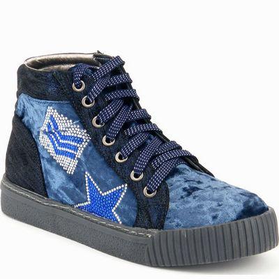 נעלי נשים גויה ספורט פאצ'ים גבוה כחול