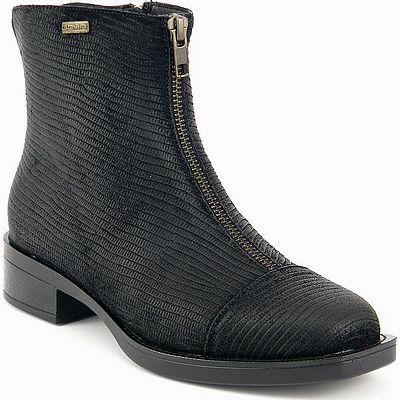 נעלי נשים גויה מגפון פסים שחור