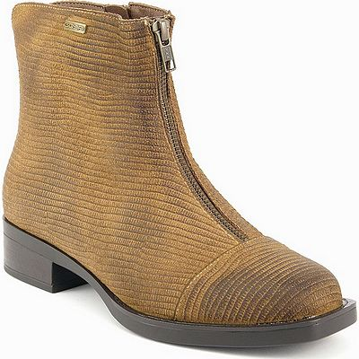 נעלי נשים גויה מגפון פסים קאמל