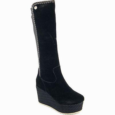 נעלי נשים גויה מגף רוקי רשת שחור