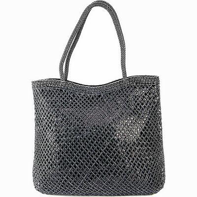 תיקים לנשים תיק אופנה רשת נצנצים שחור