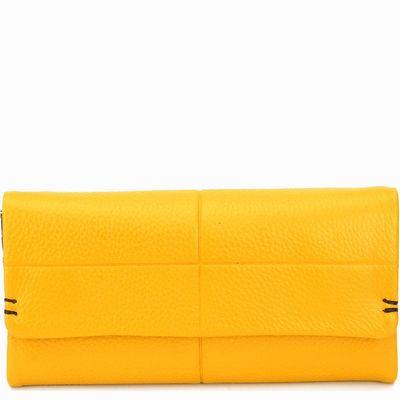 ארנקים לנשים נטע שדה קקדו גדול צהוב חום