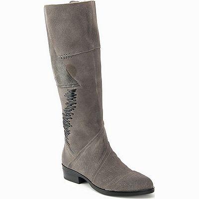 מגפיים לנשים גויה מגף משולב עורות אפור