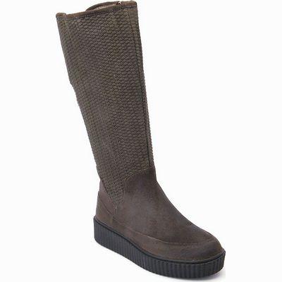מגפיים לנשים גויה מגף רוכבים חום אפור כהה