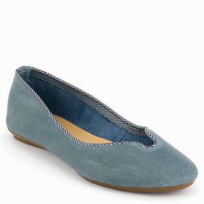 נעלי בובה גויה נטורל כחול