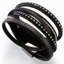 צמידים סאשה צמיד רצועות קריסטלים שחור