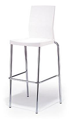 כיסא בר לבן - White bar stool