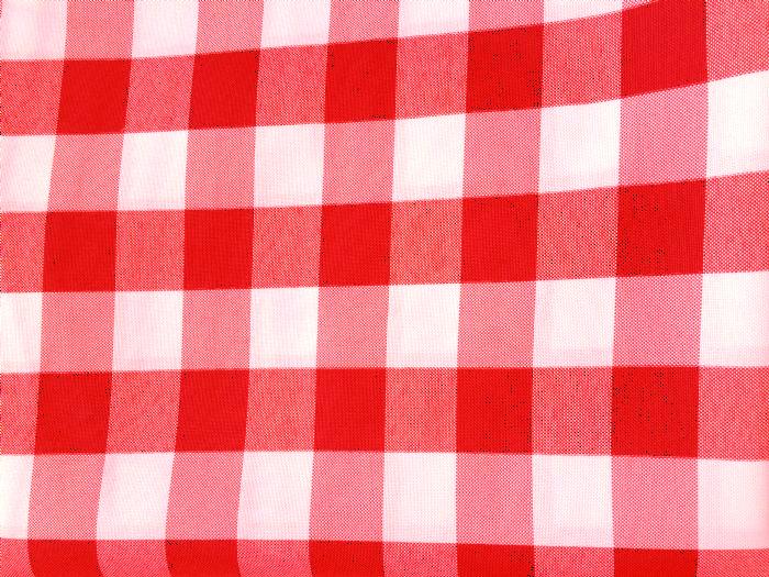 מפה עגולה 3 מטר - משובץ אדום לבן