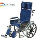 כסא גלגלים מוסדי עם תמיכת ראש וידית ארוכה Modern