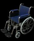 כסא גלגלים מוסדי עם ידית ארוכה Modern