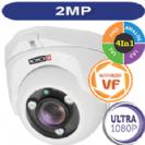 """מצלמת כיפה אינפרא  1080P/2MP סדרה Ultra עדשה זום חשמלי 2.8-12 מ""""מ כולל WDR  תוצרת Provision"""