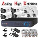 מערכת אבטחה מושלמת AHD כולל 4 מצלמות צינור אינפרה + 4 מצלמות כיפה אינפרא  2MP-Lite כולל dvr provision