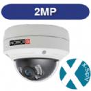 """מצלמת אבטחה כיפה אינפרא IP אנטי וונדל 2Mega-Pixel עדשה 3.6 מ""""מ כולל PoE"""