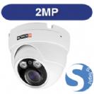 """מצלמת  כיפה אינפרא IP אנטי וונדל 2Mega-Pixel עדשה משתנה 2.8-12 מ""""מ כולל ONVIF,PoE"""