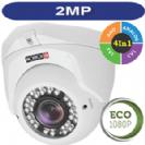"""מצלמת כיפה 2MP AHD סדרה Eco עדשה משתנה 2.8-12 מ""""מ תוצרת Provision"""