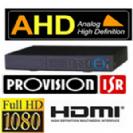 מערכת הקלטה Provision היברידי 16 מצלמות אבטחה AHD 1080P/2MP כולל 8 IP דיסק 2TB הקלטה בזמן תנועה, אפשרות צפייה מרחוק כולל טלפונים, עכבר ושלט