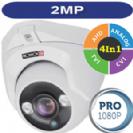 """מצלמת אבטחה כיפה אינפרא 2M/1080P AHD סדרה Pro עדשה 3.6 מ""""מ 4in1 תוצרת Provision"""