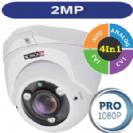 """מצלמת אבטחה כיפה אינפרא 2M/1080P סדרה Pro עדשה משתנה 2.8-12 מ""""מ 4in1 תוצרת Provision"""