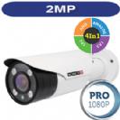 """מצלמת צינור אינפרא 1080P/2M סדרה Pro עדשה משתנה 2.8-12 מ""""מ 4in1 תוצרת Provision"""