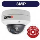 """מצלמת כיפה IP אינפרא אנטי וונדל 3M זמן אמת עדשה  3.6 מ""""מ POE מוגנת מים כולל WDR"""