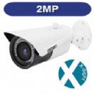 """מצלמת צינור אינפרא IP ברזולוציה  2M עדשה משתנה 2.8-12 מ""""מ תומך POE כולל D-WDR"""