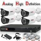 """סט מערכת אבטחה הכוללת Dvr Provision 4100 AHD כולל 4 מצלמות אבטחה צינור אינפרה 1080P/2MP-Lite עדשה 3.6 מ""""מ"""