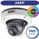 """מצלמת כיפה אינפרה אנטי וונדל 2MP סדרה Pro עדשה משתנה 2.8-12 מ""""מ 4in1 תוצרת Provision"""