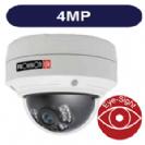 """מצלמת כיפה IP רזולוציה 4MP עדשה משתנה 2.8-12 מ""""מ אנטי וונדל אינפרה טווח 30 מטר WDR קידוד H.265"""