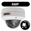 """מצלמת כיפה IP אינפרה ברזולוציה 5MP עדשה משתנה 2.8-12 מ""""מ אנטי וונדל PoE מובנה WDR קידוד H.265"""