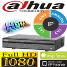 מערכת הקלטה Dahua XVR ל 8 מצלמות אבטחה + 4 מצלמות IP דיסק 1TB