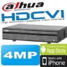 מערכת הקלטה HCVR ל8 מצלמות אבטחה + 4 מצלמות IP רזולוציה 4MP דיסק 1TB תוצרת Dahua