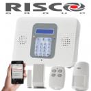 קיט מערכת אזעקה אלחוטית ריסקו קומפקט כולל מודם סלולרי 2G וכרטיס SIM גלאי נפח גלאי מגנט ושלט